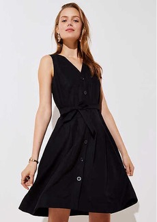 Button Down Pocket Flare Dress