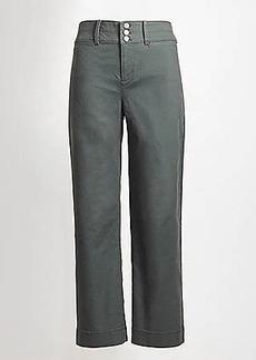 LOFT Button Front High Waist Wide Leg Crop Pants