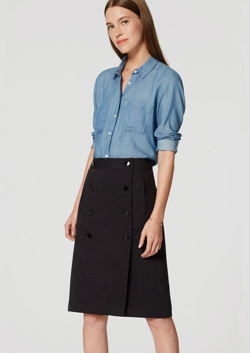 LOFT Button Front Skirt