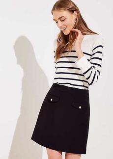LOFT Button Pocket Shift Skirt
