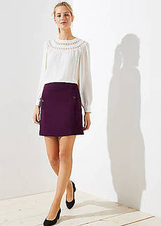 LOFT Button Pocket Shift Skirt