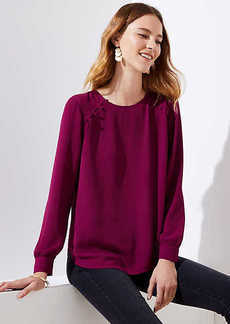 LOFT Shoulder Button Blouse