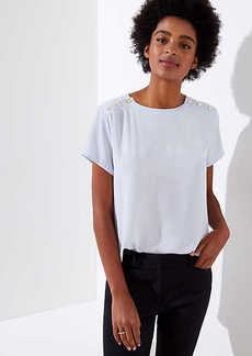 LOFT Button Shoulder Clean Tee