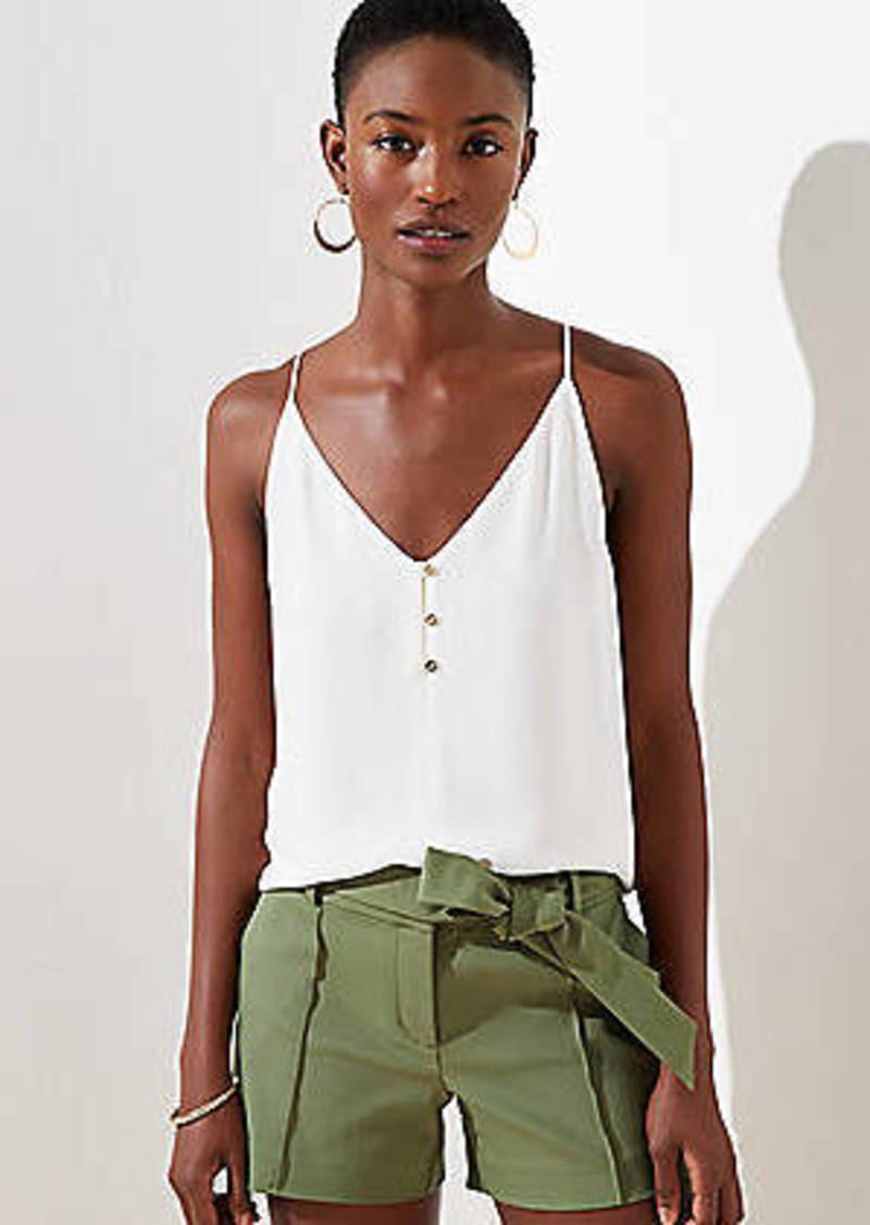 LOFT Button Strappy Cami