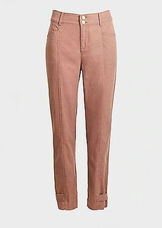 LOFT Button Tab Hem Slim High Waist Ankle Pants
