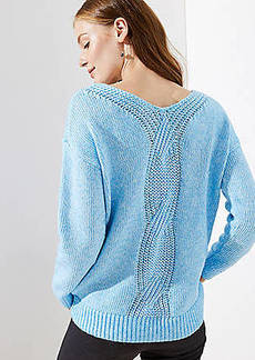 LOFT Cable Back Sweater