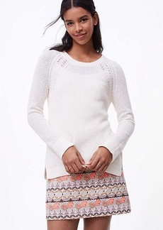 LOFT Cable Shoulder Sweater