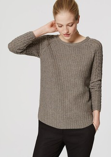 LOFT Cable Sleeve Sweater