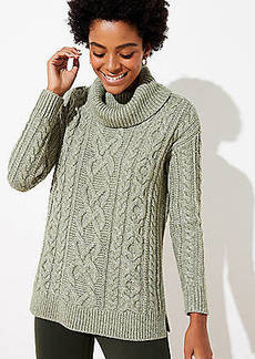 LOFT Cable Turtleneck Sweater