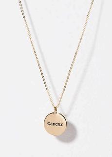 LOFT Cancer Pendant Necklace