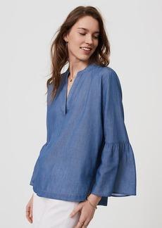 Chambray Bell Sleeve Softened Shirt