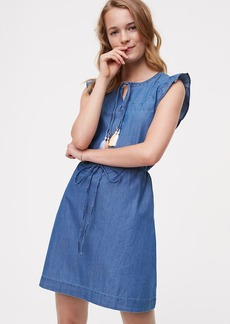 Chambray Flutter Dress