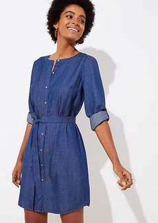 LOFT Chambray Shirtdress