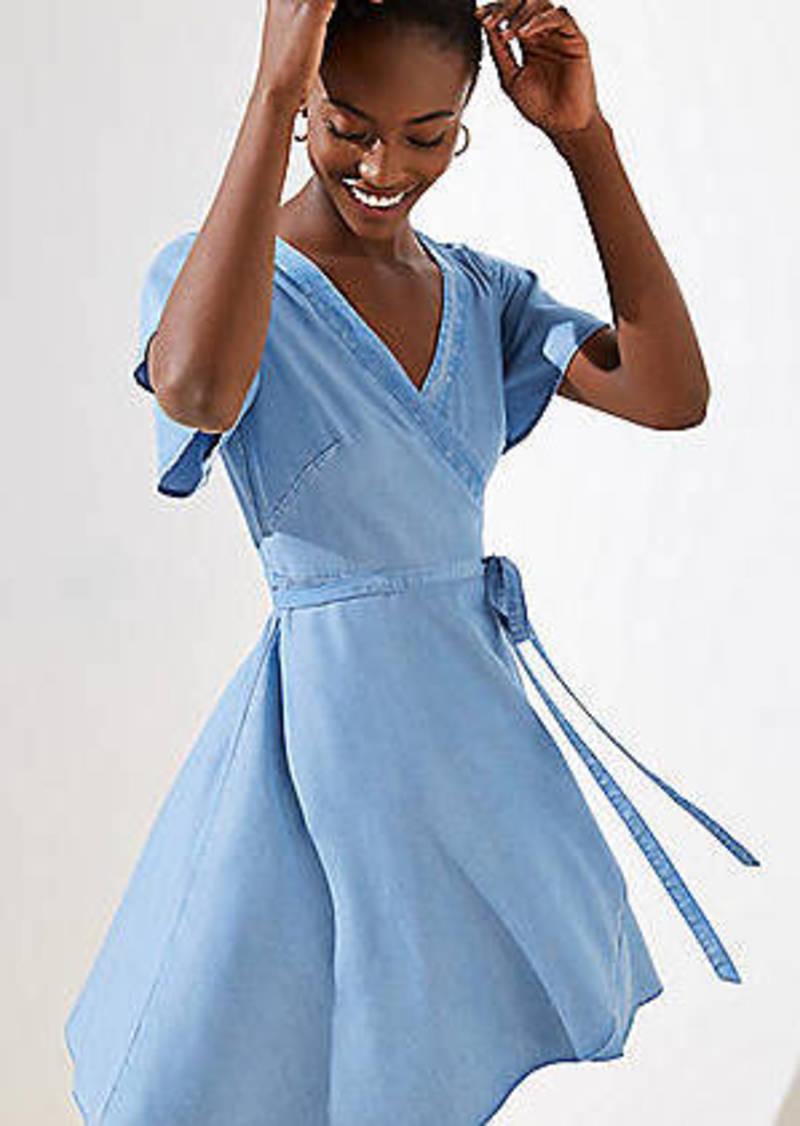LOFT Chambray Wrap Dress