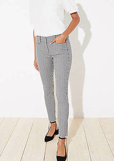 LOFT Checked Skinny Ankle Pants