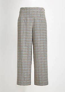 LOFT Checked Wide Leg Crop Pants