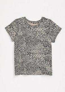 LOFT Cheetah Print New Crew Tee