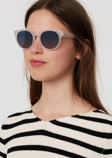 Cheetah Print Round Sunglasses
