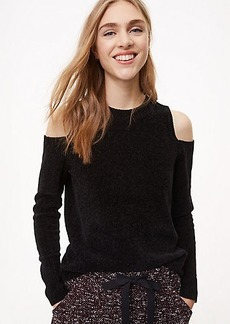 LOFT Chenille Cold Shoulder Sweater