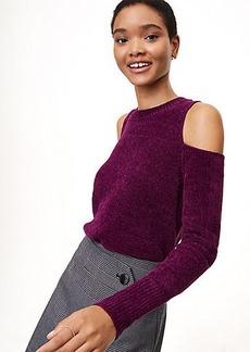 LOFT Chenille Cold Shoulder Sweater