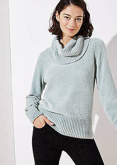 LOFT Chenille Cowl Neck Sweater