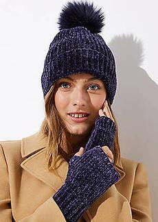 LOFT Chenille Fingerless Gloves