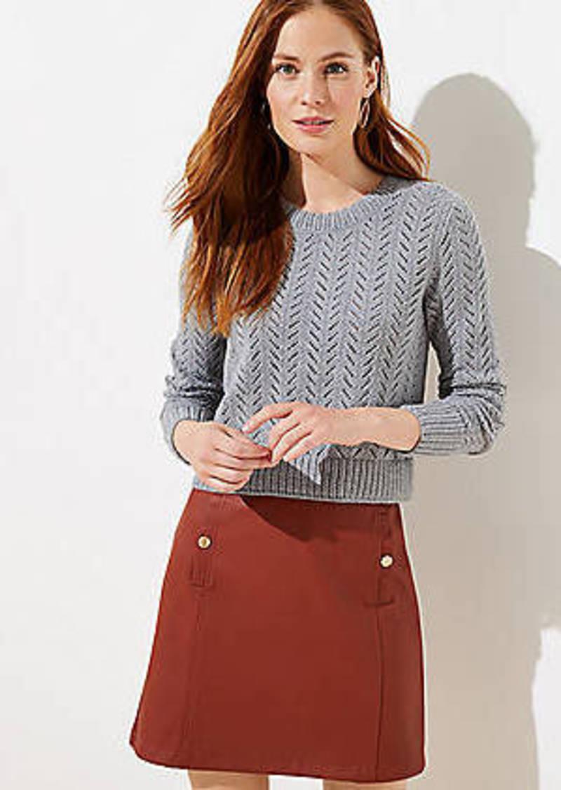 LOFT Chevron Cropped Sweater