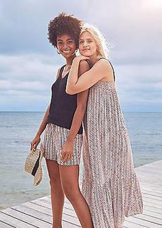 LOFT Chevron Flounce Pocket Midi Dress