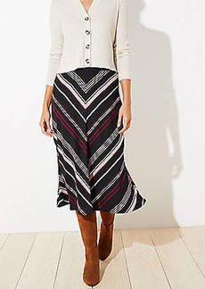 LOFT Chevron Midi Skirt