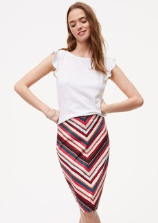 Chevron Pull On Pencil Skirt