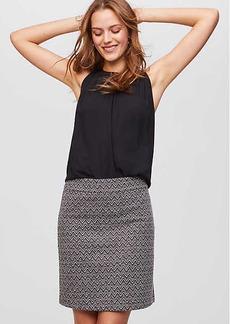 LOFT Chevron Shift Skirt