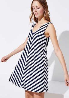 Chevron Sleeveless Swing Dress