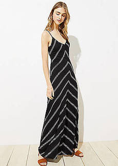LOFT Chevron Strappy Maxi Dress