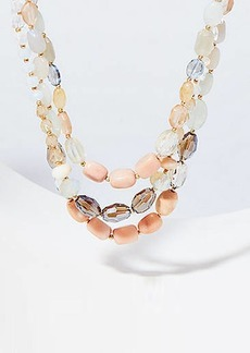 LOFT Chunky Multistrand Beaded Necklace