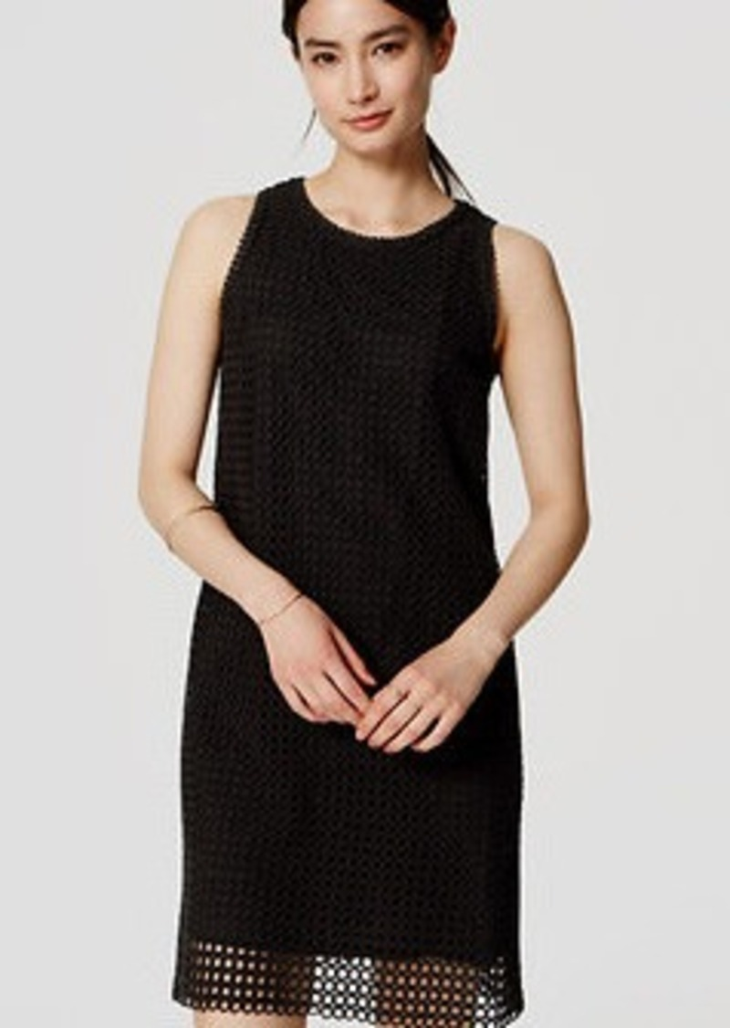 LOFT Circle Eyelet Shift Dress