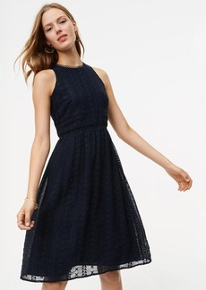 LOFT Circle Lace Embroidered Flare Dress