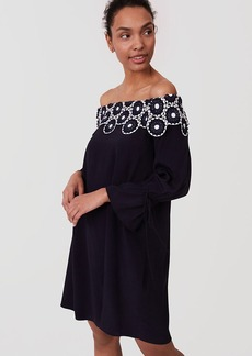 LOFT Circle Lace Off The Shoulder Dress