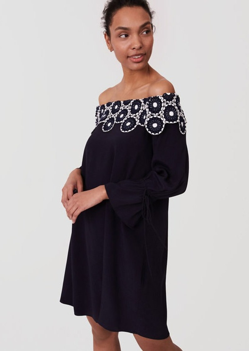 1e9b990bb3dc6 LOFT Circle Lace Off The Shoulder Dress