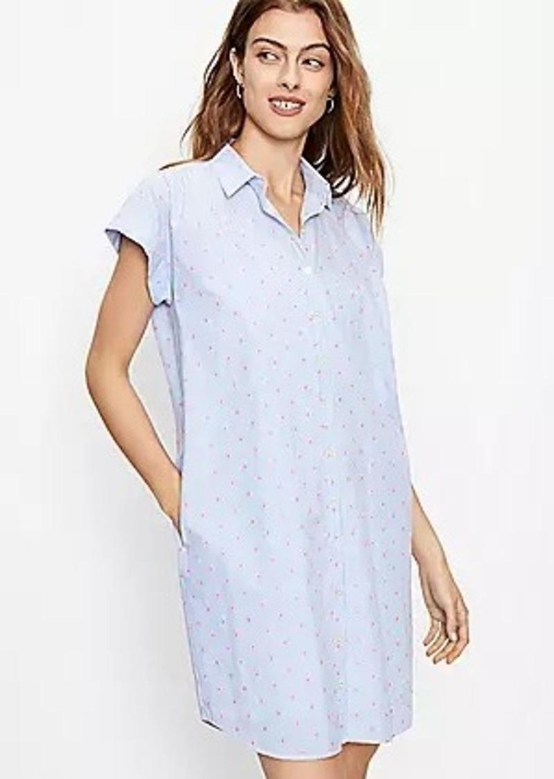 LOFT Clip Dot Dolman Shirtdress