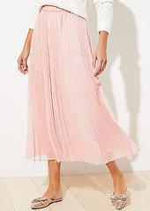 LOFT Clip Dot Pleated Skirt