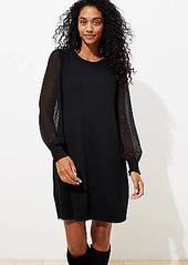 LOFT Clip Dot Sleeve Sweater Dress