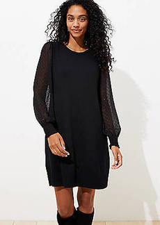 LOFT Clip Dot Sleeve Sweater Dress