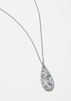 LOFT Clustered Crystal Teardrop Pendant Necklace