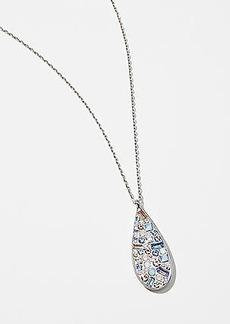 LOFT Clustered Crystal Teardrop Pendant Necklace