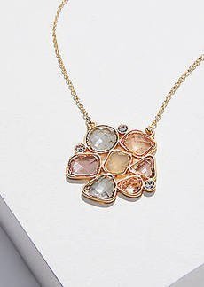 LOFT Clustered Stone Pendant Necklace