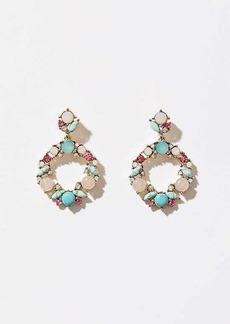 LOFT Clustered Stone Ring Drop Earrings