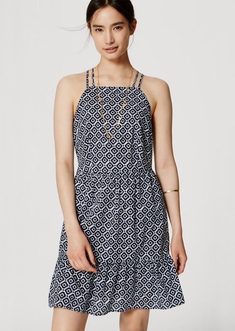 LOFT Coastal Flounce Dress