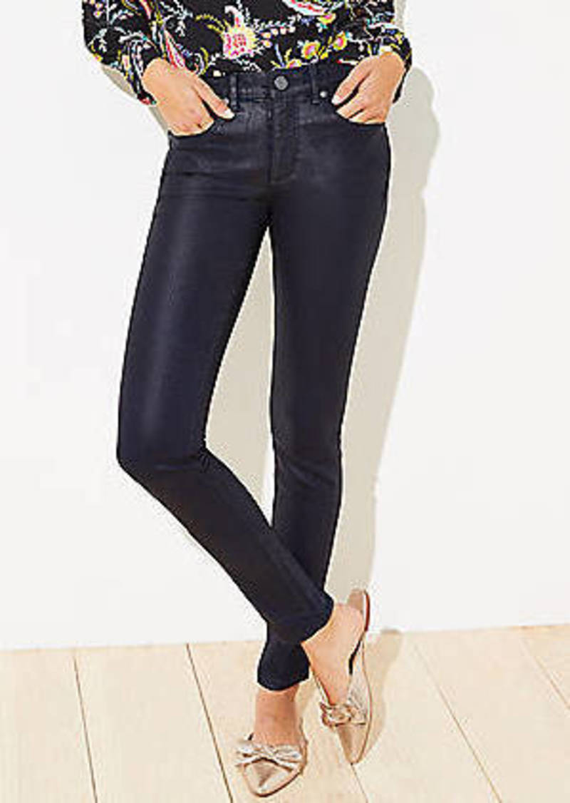 LOFT Coated Slim Pocket Skinny Jeans
