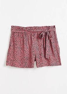 LOFT Animal Print Pull On Shorts