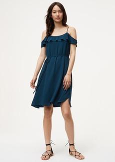 Cold Shoulder Flounce Dress